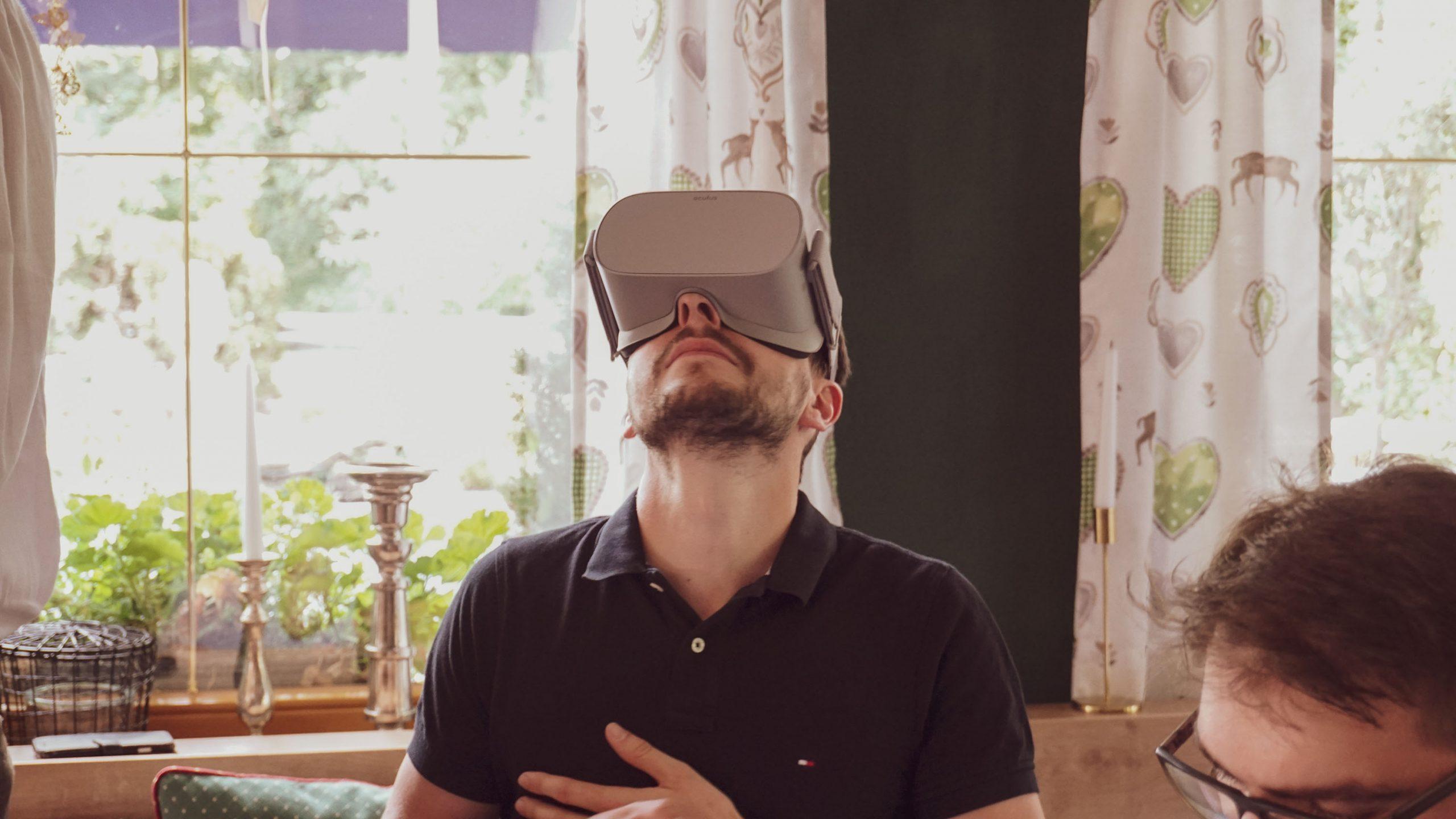 man in VR glasses