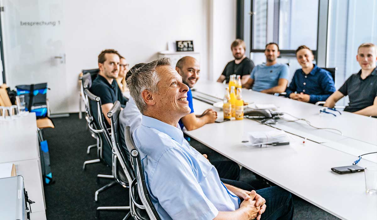 colleagues at a meeting